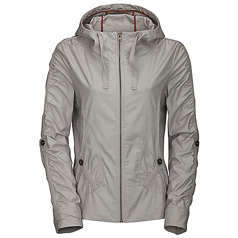 On Sale. Free Shipping. The North Face Women's Auroa Jacket DECENT FEATURES of The North Face Women's Auroa Jacket Cinch hood Adjustable sleeve length Hand pockets Foldover hem Half Dome stitch TNF script embroidery The SPECS Fabric: 98% cotton, 2% elastane-feathers binding seams This product can only be shipped within the United States. Please don't hate us. - $59.99