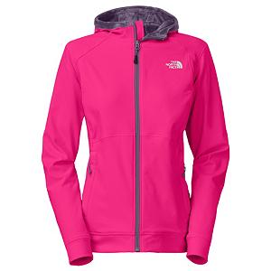 Ski The North Face Maddie Raschel Hoodie Womens Soft Shell Jacket - Providing you with the warmth, breathability and comfort where you desire it the most The North Face Maddie Raschel Hoodie will keep you warm, dry and comfortable. This jacket is made with a polyester elastane with TNF Apex Aerobic fabric that will keep you warm and dry and the fleece lining will keep you comfortable. An attached hood will allow you to keep your dome protected in inclement weather and nice and warm. Two secure zip hand pockets will allow you to store any small items you may need while out on the mountain. Features: Lining: Silken Fleece. Exterior Material: Polyester Elastane TNF Apex Aerobic with DWR, Insulation Weight: N/A, Taped Seams: None, Waterproof Rating: DWR Finish, Breathability Rating: N/A, Warranty: Lifetime, Battery Heated: No, Race: No, Type: Softshell, Jacket Fit: Regular, Length: Medium, Insulation Type: None (Shell), Breathability: Not Specified, Waterproof Zippers: No, Wind Protection: Yes, GTIN: 0808390800565, Model Number: A6EH1D7-S, Shipping Restriction: This item is not available for shipment outside of the United States., Product ID: 318153, Model Year: 2014 - $124.93