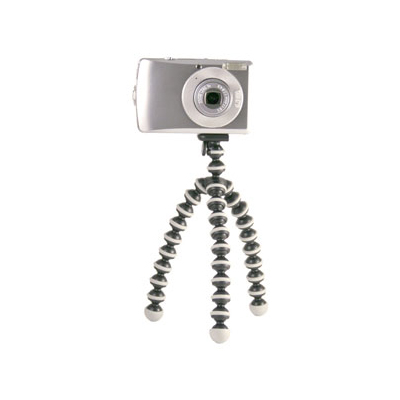 Flexible, wrappable legs allow you to secure your compact digital camera or mini video camera to virtually any surface. The slim-line quick-release clip stays connected to your camera and snaps into the GorillaPod for instant setup. - $19.99