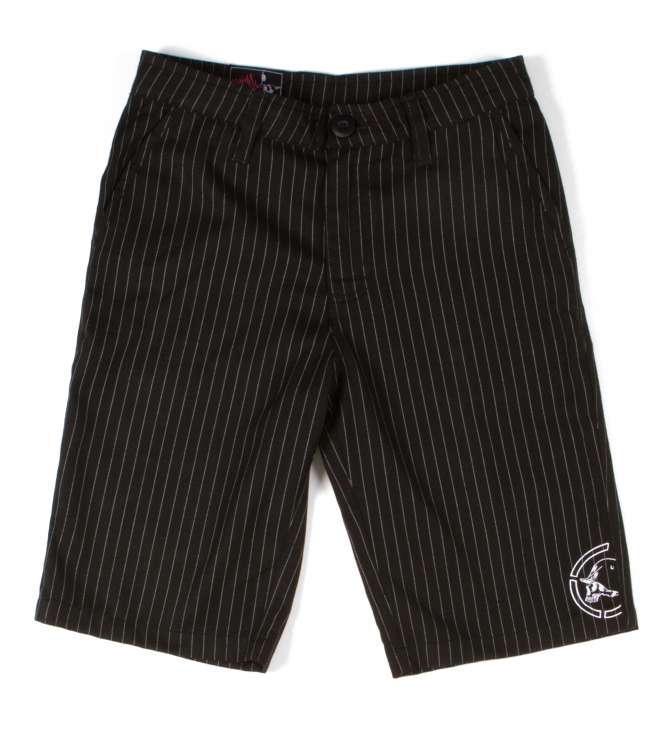 "Motorsports The boy's Gravel shorts are an everyday essential for our troops.65% Polyester / 35% Cotton twill23"" Outseam Chino fit walkshortYarn dye stripesCell phone pocket with embroidery at openingLogo embroidery at wearer's left bottom hem - $21.99"