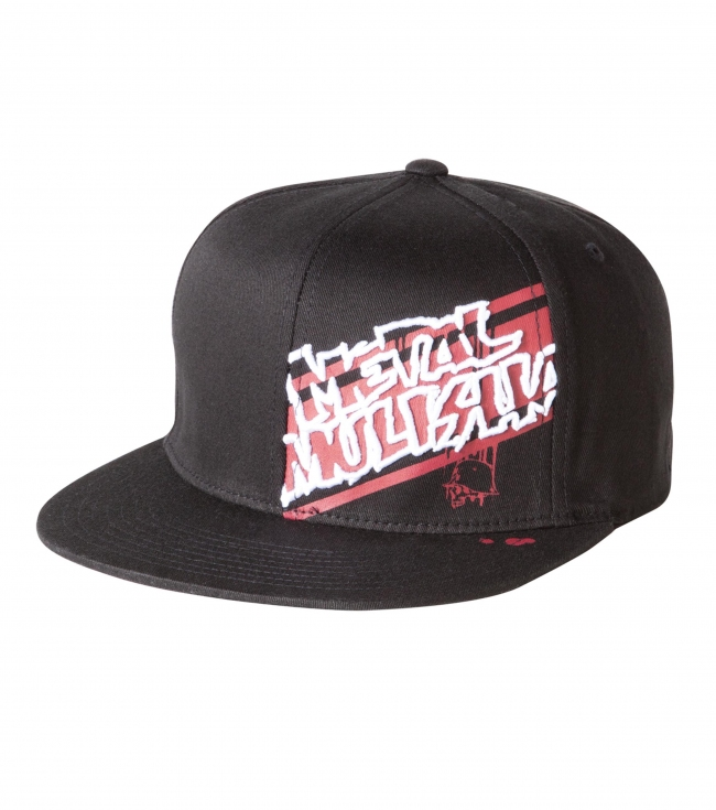 Motorsports Metal Mulisha Mens Hat.  83% Acrylic / 15% Wool / 2% PU. Spandex Flexfit cap with flat embroidery and screen on front left panel. - $17.99
