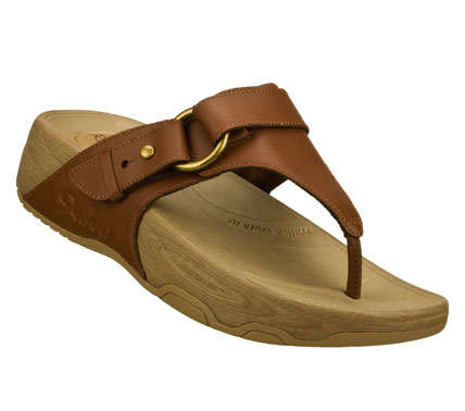 Surf Fortify your style and comfort levels with the SKECHERS Relaxed Fit: Tone-ups - Nuts and Honey sandal.  Smooth leather upper in a comfort casual thong sandal with stitching and metal stud detail. - $55.00