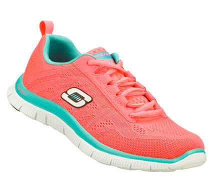 Fitness Hit just the right combination of comfort and sporty style with the SKECHERS Flex Appeal - Sweet Spot shoe.  Unique Skech-Knit Mesh fabric upper in a lace up sporty athletic training sneaker with stitching and overlay accents. Memory Foam insole. - $75.00