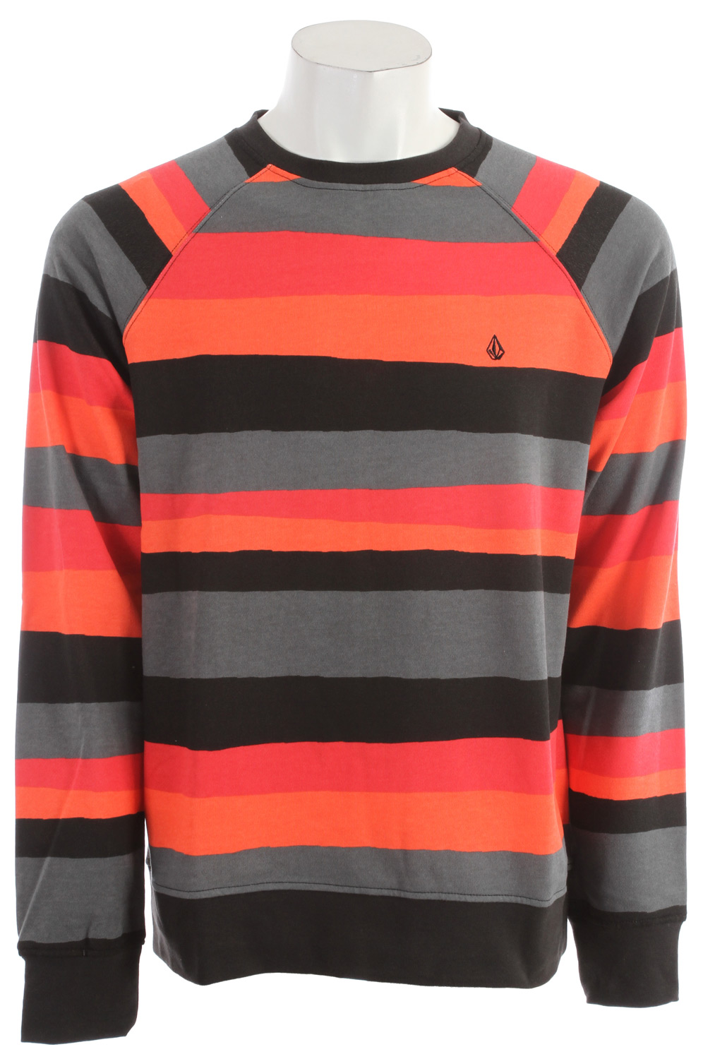 Surf Key Features of the Volcom Hart Crew Sweatshirt: Basic fit crew fleece Printed stripes Raglan sleeves Pre Shrunk Core label package 60% Cotton / 40% Poly Fleece, 280g - $32.95
