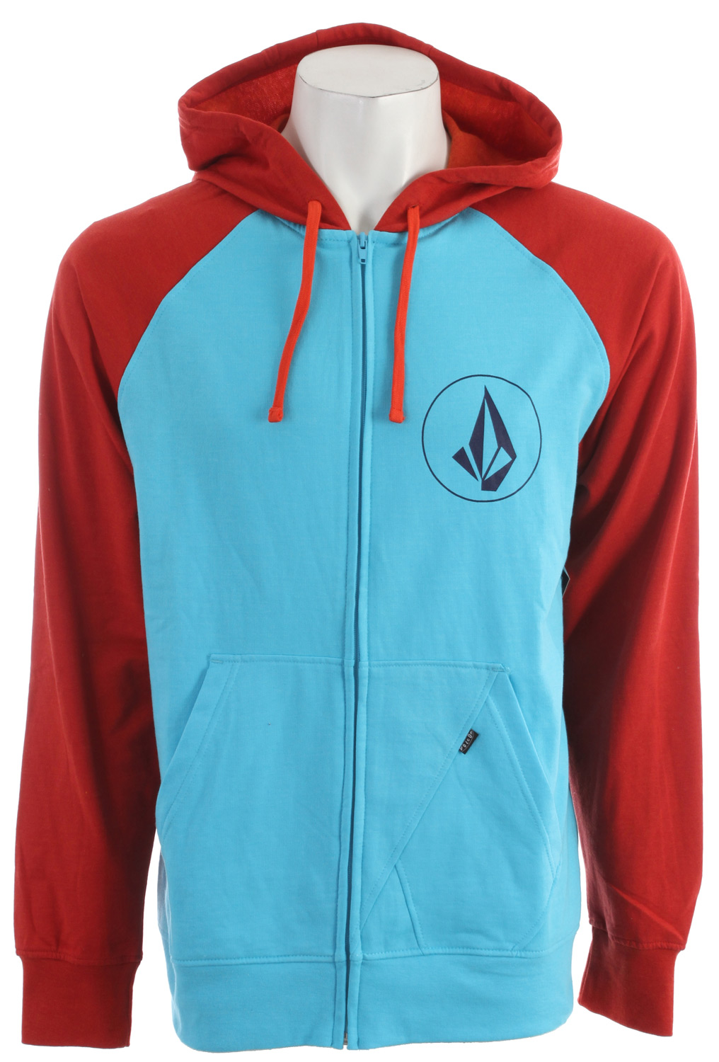 Surf Key Features of the Volcom Half Stone Icon Hoodie: Heather Slim zip hood Left chest screen print Contrast hood and raglan sleeves 2-Tone drawcords Stone panel pocket detail Pre-Shrunk Slim Fit 55% Cotton / 45% Polyester Heather fleece, 220-230gm - $35.95