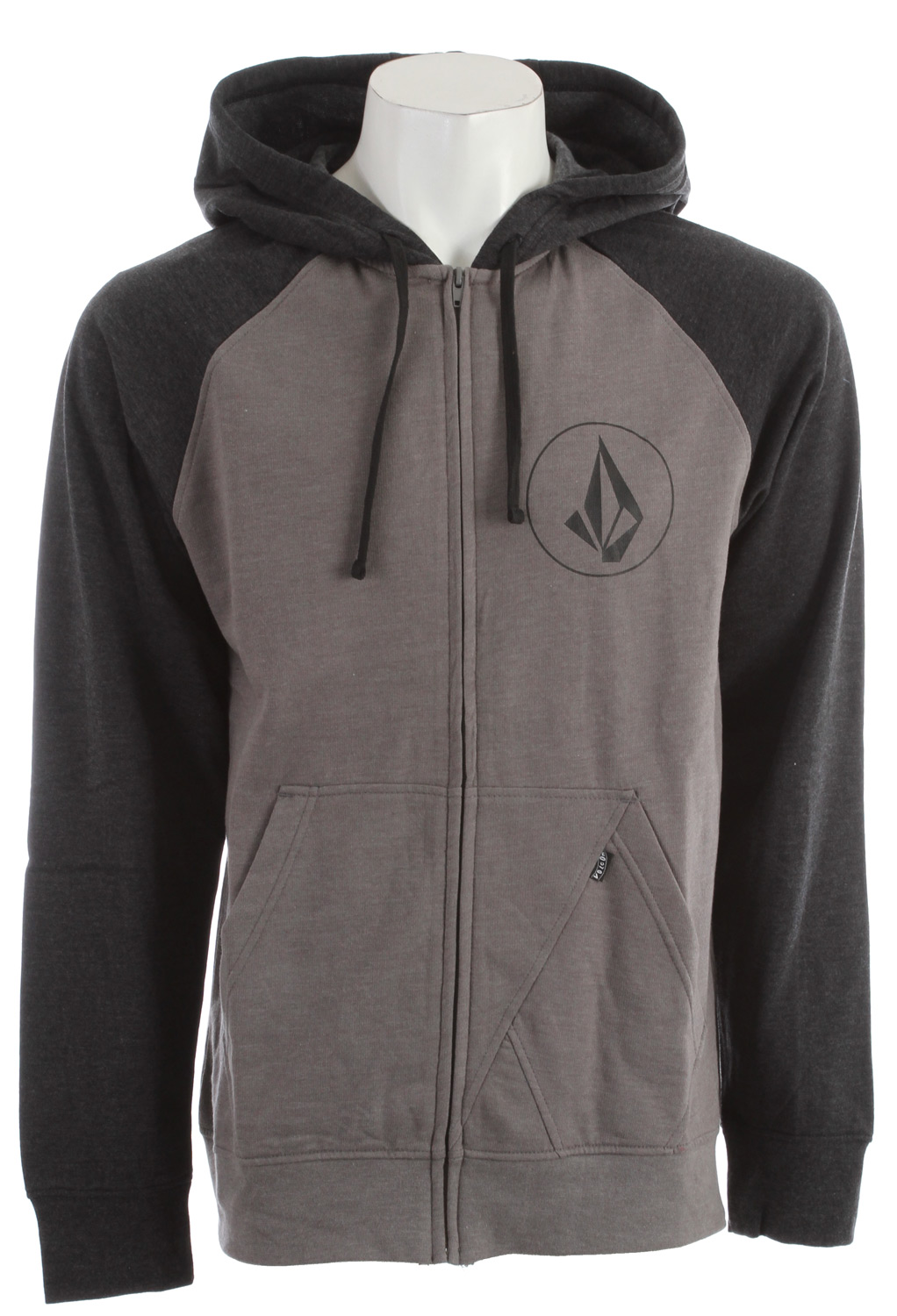 Surf Key Features of the Volcom Half Stone Icon Hoodie: Heather Slim zip hood Left chest screen print Contrast hood and raglan sleeves 2-Tone drawcords Stone panel pocket detail Pre-Shrunk Slim Fit 55% Cotton / 45% Polyester Heather fleece, 220-230gm - $29.95