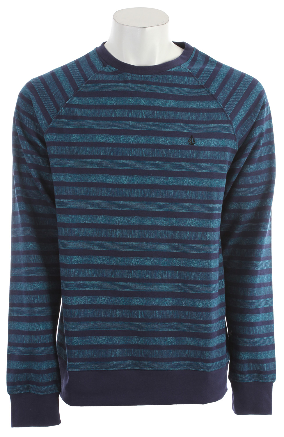 Surf You are an active guy with style, so you wear the Volcom Speckle Stripe Sweatshirt for Men, helping you look good and move freely throughout your day. The basic fit on this crew fleece is printed with symmetrical stripes, and has flattering raglan sleeves, giving flair to an already classic look. This Volcom sweatshirt is also already pre shrunk, so you know you are getting a good fit. Not only is this sweatshirt aesthetically appealing, it is also comfortable and warm, with its 60% Cotton and 40% Poly Fleece blended fabric.Key Features of the Volcom Speckle Stripe Sweatshirt:  Basic fit crew fleece  Printed stripes  Raglan Sleeves  Pre Shrunk  Core Label package  60% Cotton / 40% Poly Fleece, 280g - $32.95