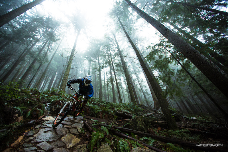 MTB Ryan Berrecloth freeriding in British Columbia
