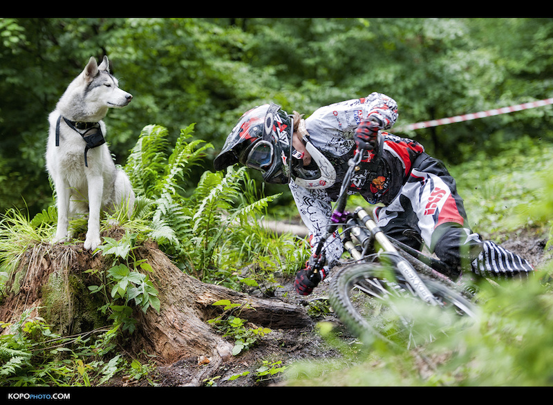 MTB Artur Sliwa and Altair the Husky in Poland