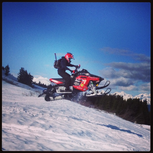 Snowmobile was a good day