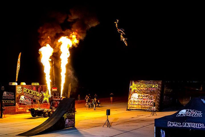Motorsports Who's going big this Memorial Day weekend!? Check out this pic of Julian Dusseau kicking off the Rockstar Energy Drink US FMX show for all the Military troops down at Naval Air Facility El Centro.
