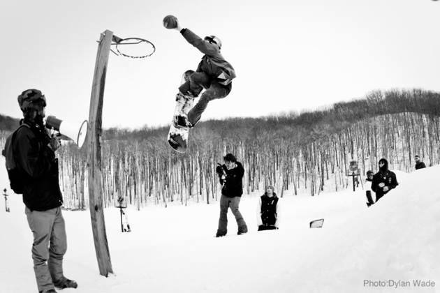 Snowboard We had a ton of awesome entries and it was a tough choice, but it had to come down to one photo..  Congrats to Dylan Riffer for nailing the shot of this FS 3 tuck knee slam dunk and snagging the win in the Rome x Snowboarder Magazine We Make Snowboarding