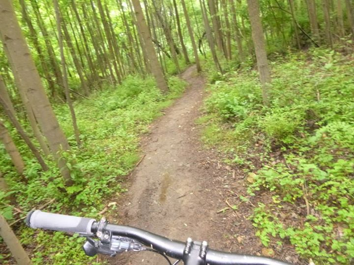 MTB Demo Tour Driver Ben Cargill decided to ride at the local hot spot: White Clay Creek State park