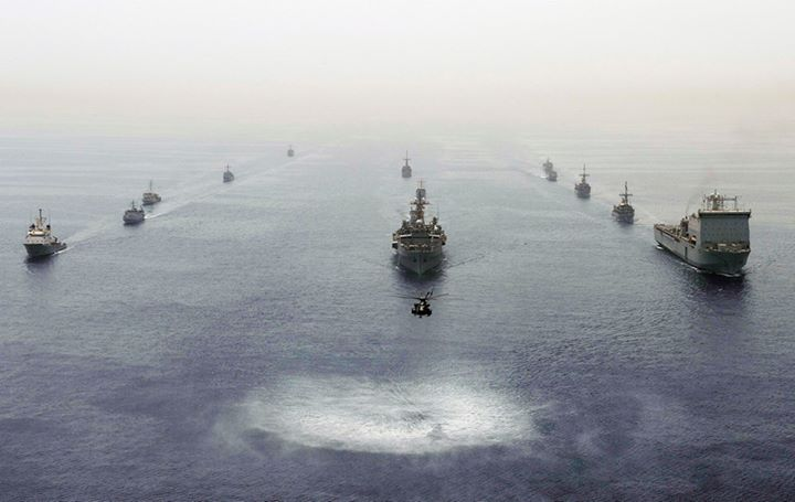 Guns and Military (May. 19, 2013) Ships participating in International Mine Countermeasures Exercise (IMCMEX) 2013 are underway in formation. IMCMEX 13 includes navies from more than 40 countries whose focus is to promote regional security through mine countermeasure opera