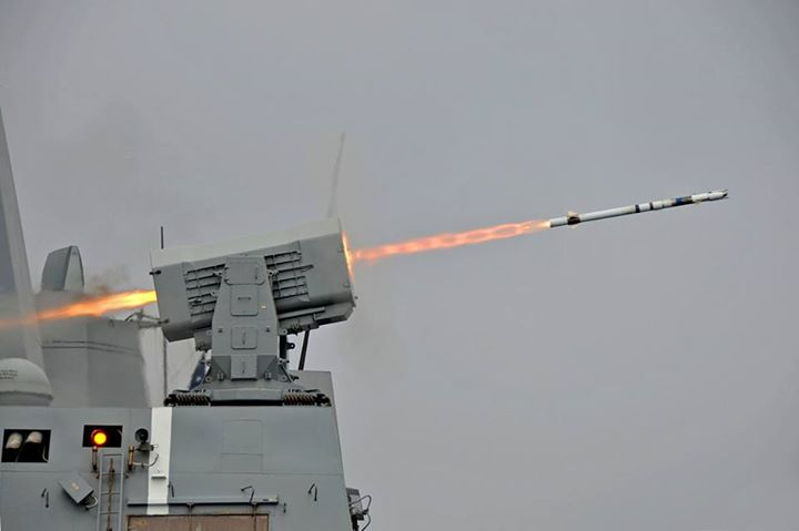 Guns and Military (May 21, 2013) The amphibious transport dock ship USS New Orleans (LPD 18) fires a surface to air intercept missile from it's Rolling Airframe Missile (RAM) launcher while off the coast of California during a live-fire exercise. New Orleans is underway co