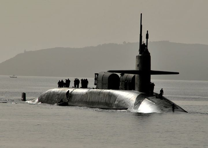 Guns and Military (May 21, 2013) The Ohio-class guided-missile submarine USS Florida (SSGN 728), gold crew, arrives in Souda harbor. Florida is homeported in Kings Bay, Ga., and is deployed conducting maritime security operations and theater security cooperation efforts in