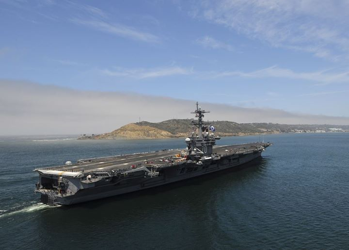 Guns and Military The aircraft carrier USS Carl Vinson (CVN 70) returns to its homeport of Naval Air Station North Island. Carl Vinson and Carrier Air Wing (CVW) 17 completed flight operations off the coast of Southern California. (U.S. Navy photo by Mass Communication Spe
