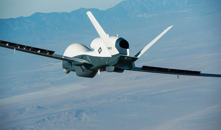 Guns and Military (May 22, 2013) The Northrop Grumman-built Triton unmanned aircraft system completed its first flight from the company's manufacturing facility in Palmdale, Calif. The one an a half hour flight successfully demonstrated control systems that allow Triton to