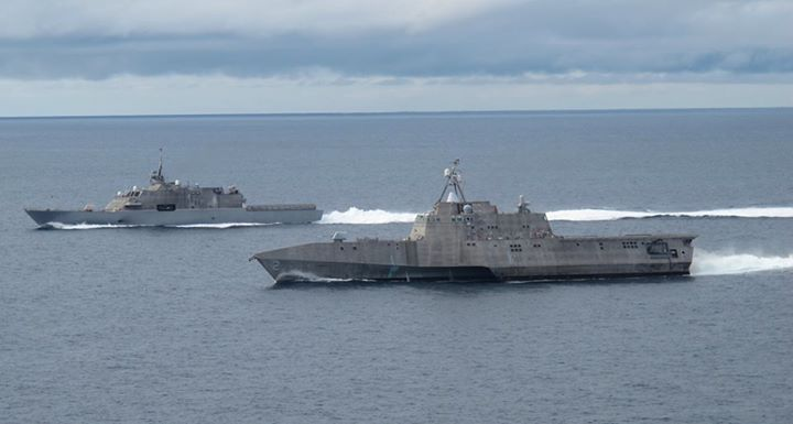 Guns and Military Littoral combat ships are fast, agile and mission-focused platforms that are designed to operate near shores and in the open ocean.