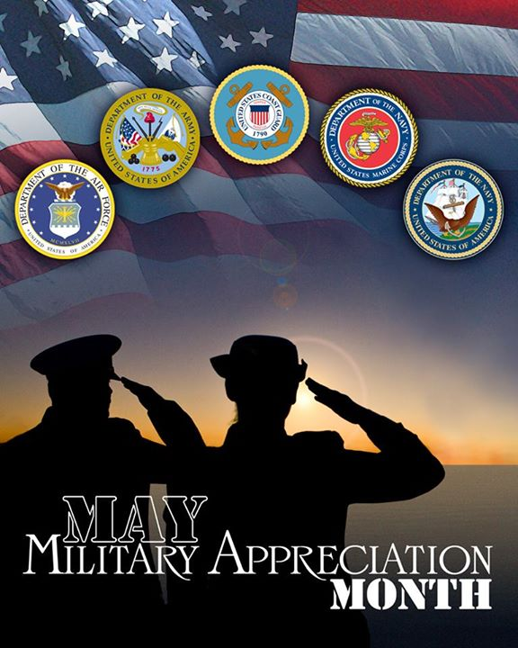 Guns and Military May is Military Appreciation Month! What do you like to do to show support for our nation's military members?