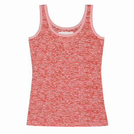 Entertainment Vida Tank orange. This tank top may have a classic silhouette, but it's far from ordinary. An all-over burnout pattern makes it an ideal layering piece. Layer it under a cute cardi or hoodie in early spring and over a cami when the weather warms up. One thing is for sure - it won't spend much time in your closet!All-over burnout pattern with rib knit trim. Wide, bra-friendly straps. Semi-sheer style. Classic fit - not too tight, but not too loose; cut to flatter a women's shape. 52 cotton/48 polyester burnout jersey. Machine wash. Imported. - $16.00
