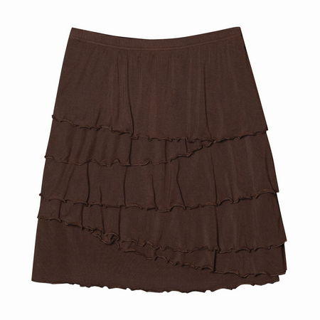 Entertainment Ali Skirt rain drum. With skirt season fast approaching, tuck this pretty piece into your closet. Super-soft fabric features tiers of ruffles that will give a little va va voom to your wardrobe.Pull on styling with comfortable elastic waistband. Tiers of ruffled fabric will put a little swing in your step. Classic fit - not too tight, but not too loose; cut to flatter a woman's shape. Approximate 18 length, size M. 48 rayon from bamboo/47 modal/3 spandex. Machine wash. Imported. - $29.50
