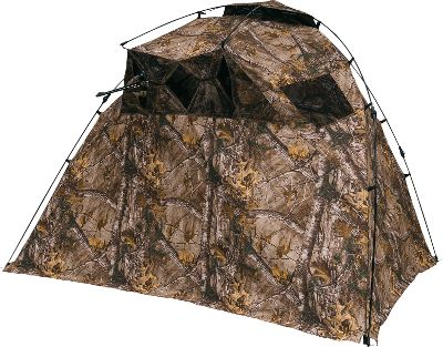 Hunting Equally suitable for crossbow or firearm hunting, Ameristeps Lightspeed Razor Ground Blind folds into an extremely-compact, easily-portable package. At a lightweight 8 lbs. and only 50L x 6W when folded, the blind is simple to transport from your vehicle to your favorite hunting spot. The patented Lightspeed single-hub frame is quick and simple to set up. Extra-quiet, wear- and weather-resistant Durashell Plus fabric conceals and protects from the elements. Five window openings with shoot-through mesh.Dimensions: 60H x 98W x 60D.Packed dimensions: 50L x 6W.Camo pattern: Realtree XTRA. Type: Hub Blinds. Ground Blind Type: Hub Blinds. - $99.88