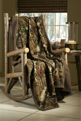 Hunting Create the ambiance of a rustic hunting cabin with this camo-inspired throw. The remarkable contrast, depth and detail of Mossy Oak Break-Up Infinity is what makes it so popular among hunters. Leaves, limbs, acorns and branches create a realism that breaks up a hunters silhouette. Plush 1/2-thick pile Sherpa fleece. 70L x 50W.Camo pattern: Mossy Oak Break-Up Infinity. Type: Throws. - $35.88