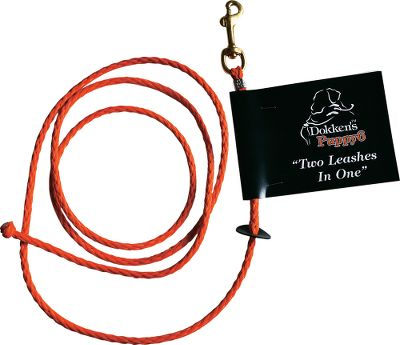 Entertainment The lightweight-nylon 6-ft. Dokkens 2-in-1 Puppy Leash is durable, versatile, and ideal for training and everyday use. Use as a regular leash by clipping to collar or use it as a slip lead for obedience training. Designed by professional trainer Tom Dokken, who works with hundreds of dogs every year and understands the value of quality training equipment. Imported. - $9.99