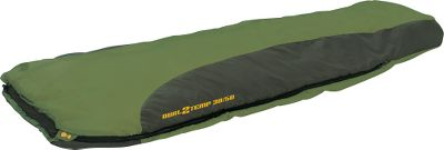 Camp and Hike Specifically constructed to achieve two different temperature ratings, the Dual Temp 30/50-Degree Sleeping Bag utilizes differing layers of insulation on the chest and back portions to cater to your specific temperature needs. Simply choose to sleep with more insulation on top for added warmth, or turn the bag over in moderate temperatures for less insulation. Rteq insulation provides a unique thermal layer that runs the entire length of the zipper, ensuring maximum heat retention and easy compression perfect for users looking to minimize pack size. Incredibly strong 66-denier Diamond Matrix polyester ripstop shell. 75-denier peached-polyester lining is warm to the touch, while the 240 thread count offers the soft feel of cotton. Unique hybrid-rectangular design boasts a tapered lower portion to reduce weight and bulk, and a contoured top opening minimizes heat loss. Trapezoidal footbox allows feet to rest in their natural position. Stuff sack included. YKK No. 5 two-way zippers. Imported. - $119.90