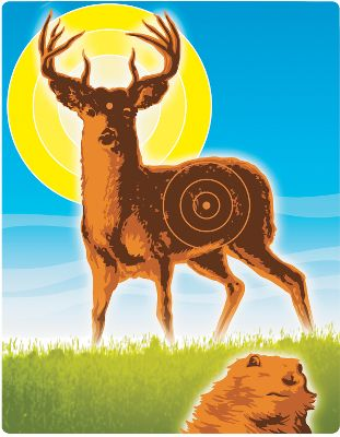 Hunting Have a blast with the revolutionary, hassle-free Wild Deer Sticky Target. Stick and release technology holds foam balls firmly in place. Wipe with a damp sponge for quick and easy clean up. Easel back. Ages 4 and up.Dimensions: 8.5H x 11L. Type: Shooting Targets. - $7.99