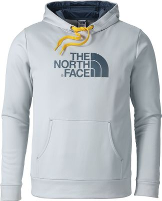 The North Face Mens Surgent Hoodie is sure to be your new go-to sweatshirt with soft-handed 100% jersey-faced stretch polyester and the classic The North Face logo. This hoodie follows you through warmups, cool downs and everything in between, thanks to its relaxed fit and kangaroo pocket. UPF rating of 50. Double-sided hood. Includes hidden media pocket inside the kangaroo hand pocket. Imported. Sizes: M-2XL. Colors: Asphalt Grey Heather/Green,Asphalt Grey/Firey Red,Heather Grey/Camo,Honor Blue/Cosmic Blue,Power Green/Asphalt Grey,TNF Black/TNF Black, Nautical Blue/Black, TNF Black/TNF Red. Size: Large. Color: Nautical Blue/Black. Gender: Male. Age Group: Adult. Pattern: Camo. Material: Polyester. Type: Hoodies. - $55.00