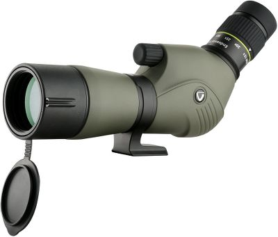 Hunting From the hobby bird watcher to serious big game hunters the Vanguard Endeavor XF spotting scope provides crystal clear images and powerful magnification for seeing the detail of small objects or pulling distant ones close. Phase-coated BaK4 roof prism delivers optimal light transmission for ultrasharp images. Hydro-Guard water-repellent lens coating beads water for minimized distortion when using in rain, fog or mist. Large focus wheel is easy to use even with gloves on. Rubberized armor coats the magnesium-alloy body for complete shock and abrasion resistance. Integrated sight on the sunshade helps you sight distant objects so you can easily find them in the eye-piece. Waterproof submersible, nitrogen filled and fogproof performance handles the toughest field conditions. Comes with soft carry case. Color: Clear. - $299.99