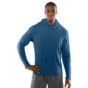 Fitness Spun recycled polyester feels, soft, natural, and performs like Under Armour(R)Lightweight, 4-way stretch construction improves mobility and accelerates dry timeSignature Moisture Transport System wicks away sweat to keep you dry, light, and comfortableAnti-odor technology prevents the growth of odor-causing microbes, keeping your gear fresher, longerFull-time hood delivers extra protection when you need itHand pockets built in for storage100% Recycled PolyesterImported - $36.99