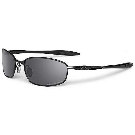Free Shipping. Oakley Blender Polarized Sunglasses DECENT FEATURES of the Oakley Blender Polarized Sunglasses Oakley HDPolarized - Minimized glare via technology that produces the best polarized lenses on the planet (optional) Optimized peripheral vision and side protection of 8.75 base lens curvature UV protection of Plutonite lens material that filters out 100% of UVA / UVB / UVC and harmful blue light up to 400nm Meets optical and impact requirements based on ANSI Z80.3 Constructed of ultra-lightweight hi-modulus C-5 frame material with stress resistant O matter earstems Wrapped, raked frame geometry with 8.75 base lens curvature for better peripheral coverage Comfort and performance of Three-Point Fit that holds lenses in precise optical alignment Unobtanium earsocks inserts for added comfort Adjustable nose pads ensure a snug, secure fit Metal icon accents - $190.00