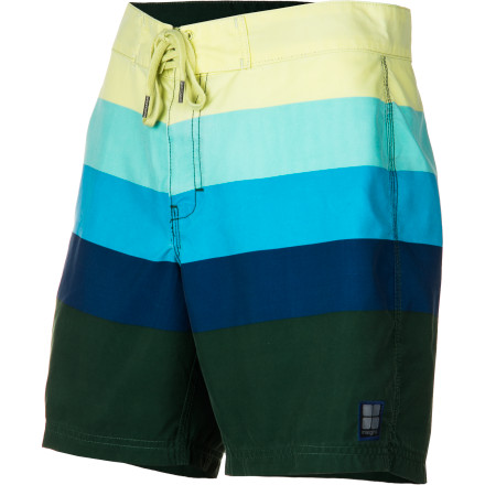 Surf The Insight Retro Daze Mid Board Short combines vintage striped color-blocking with a stylishly modern fit. - $54.95