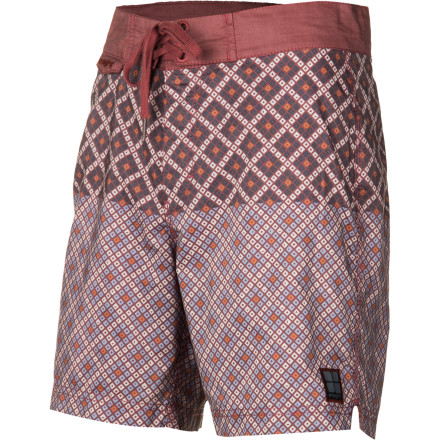 Surf The Insight Mosaic Mid Board Short features an innovative and stylish textured diamond print, a modern cut that rests above the knee, and a medium enzyme wash for a super-soft feel next to your skin. - $59.95