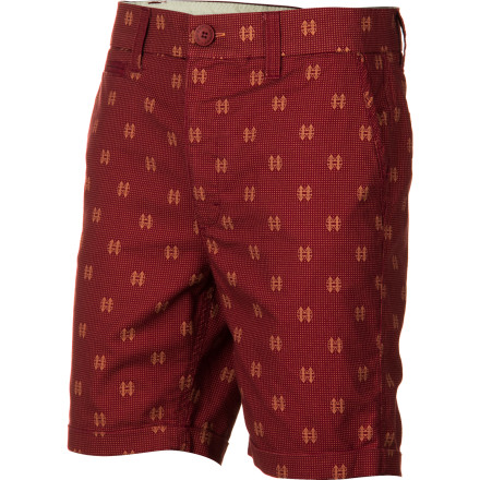 Surf Add some preppy touches to your skater style with the Insight Men's Crators Short. An all-over print and deep colors help you stand out while rolled hems and an above-the-knee cut provide classic looks. - $65.95