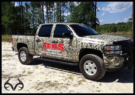 "Hunting A shout out to our friends at Jeb's ""Headhunter"" Precision Choke Tubes in Hazelhurst, GA for sending us this awesome pic of their newly MAX-4 camouflaged Chevy truck!"