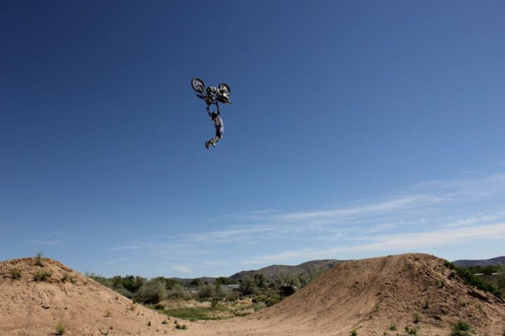 Motorsports Talk about going big... Adam Jones with a sick Kiss Of Death Flip!
