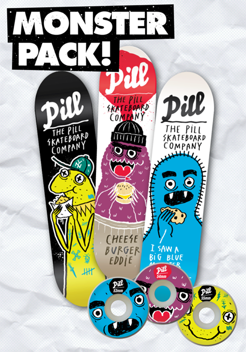 Skateboard Packs Monsters Wallride Supply Chile