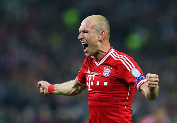 Sports FC Bayern Munich win the Champions League Final. Arjen Robben scores the winning goal, as Bayern beats Dortmund, 2-1.