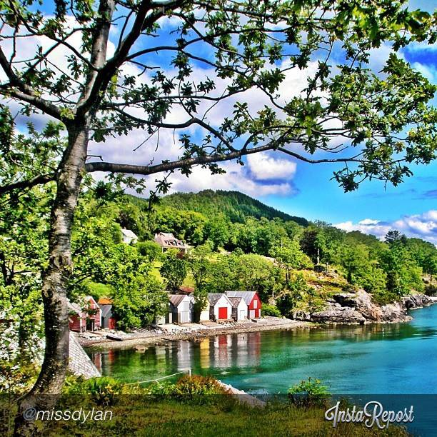 Entertainment It's the week-end and we wouldn't have minded spending it here...! Idyllic Solstrand, captured by missdylan on Instagram. 