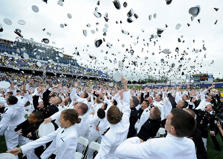 Guns and Military Congratulations to the United States Naval Academy Class of 2013 and welcome to the fleet!   Watch how a new ensign shared a military tradition with his brother who is deployed aboard USS Dwight D. Eisenhower (CVN 69) in U.S. Naval Forces Central Command