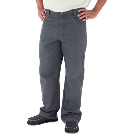 Camp and Hike With sturdy construction, a soft feel and classic style, the Royal Robbins Billy Goat(R) Utility Corduroy pants with a 32 in. inseam will be a staple of your cool-weather, casual wardrobe. Rugged cotton corduroy provides UPF 50+ protection from the sun's rays. Hand pockets; rear pockets; additional right rear pocket with zipper; zip thigh pocket; drop-in cell phone pocket. Triple-needle stitching at high-stress points ensures long-lasting wear. Gusseted crotch and articulated knees allow good range of motion. The Royal Robbins Billy Goat Utility Corduroy pants have a regular fit. Closeout. - $28.73