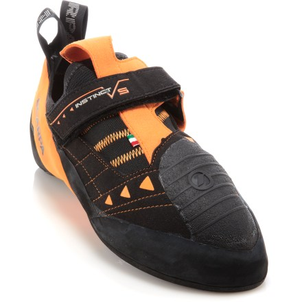 Climbing Built for devoted sport climbers and boulderers who demand sensitivity and power, the Scarpa Instinct VS rock shoes have a precise fit, tough synthetic uppers and grippy soles to help you send routes. - $169.00