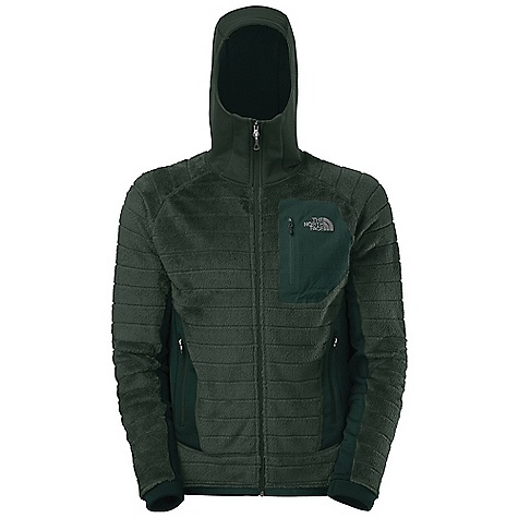 Ski Free Shipping. The North Face Men's Radium Hi-Loft Hoodie DECENT FEATURES of The North Face Men's Radium Hi-Loft Hoodie Mountaineering and ski mountaineering Highest warmth-to-weight ratio of any The North Face high loft fleece Exclusive Polartec lowdensity knit fabric minimizes weight and maximizes compressibility High loft fibers trap air, retaining body heat Harness and pack-friendly handwarmer pockets Bonded chest pocket The SPECS Average Weight: 16.6 oz / 470 g Fit: Active Body: 220 g/m2 (6.49 oz/yd2) Polartec Thermal Pro 96% polyester, 4% elastane 1.5in. baffle high loft Stretch Side Panels: 241 g/m2 (7.11 oz/yd2) Polartec Power Stretch Pro-53% polyester, 38% nylon, 9% elastane smooth-face jersey fleece This product can only be shipped within the United States. Please don't hate us. - $189.95