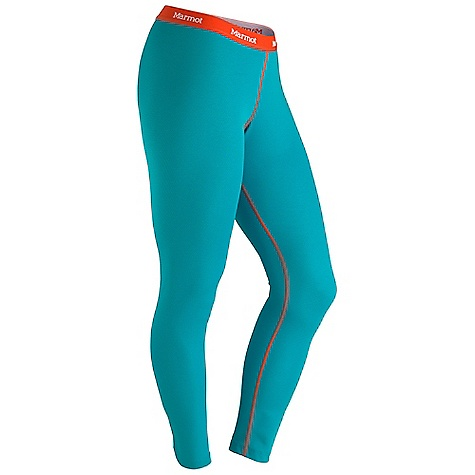 Marmot Women's ThermalClime Sport Tight DECENT FEATURES of the Marmot Women's ThermalClime Sport Tight Polartec Power Dry Performance Technology Marmot Up Cycle Product with Recycled Polyester Quick-Drying and Moisture Wicking Stretch Without Hydrophyllic (water-loving) Elastane Gusseted Crotch for Increased Mobility Flat-Locked Seams for Added Comfort Tag-Free Neckline The SPECS Weight: 5 oz / 141.7 g Fit: Athletic Polartec Power Dry 50% Polyester 50% Recycled Polyester Mesh 4.3 oz/yd - $37.95