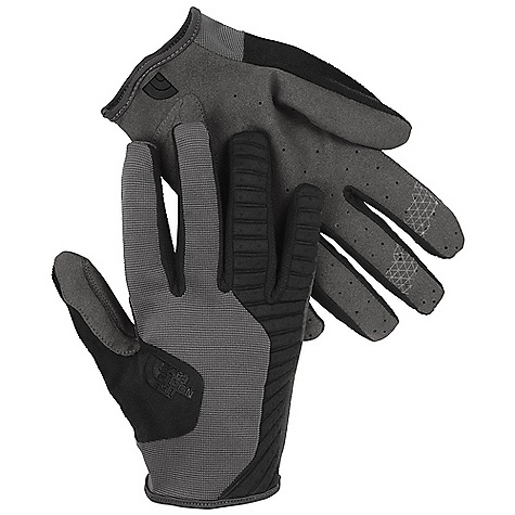 The North Face Dirt Merchant Glove DECENT FEATURES of The North Face Dirt Merchant Glove Neoprene back-of-hand for added protection Mesh finger-wall construction keeps fingers cool Strategic palm reinforcement Fingertip brake grip pattern Super-soft nose wipe on thumb Strategic palm perforations enhance breathability The SPECS Palm: Nylon/polyester synthetic suede Back of Hand: Nylon/elastane stretch mesh, 2 mm Neoprene Nosewipe: Polyester microfiber This product can only be shipped within the United States. Please don't hate us. - $39.95