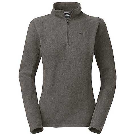 The North Face Women's Glacier 1/4 Zip is a lightweight fleece pullover for chilly days in all seasons. Polartec Classic 100 Micro fleece is soft and sweet against the skin, providing a warm barrier against the cool early morning air. The fabric is breathable, so as you progress through your hike or errands, you won't overheat, and the quarter zip opens to release excess heat quickly. The pill-resistant face and back allows you to pop in and out of the house without fear of looking like you just rolled out of bed. You're on your own for your hair though and I can't guarantee those pants Are clean. Features of The North Face Women's Glacier 1/4 Zip The unique microfibers give this fleece an unparalleled soft hand feel Quarter zip is great for when you're feeling not so cold Dries quickly to minimize heat loss, so you won't have to deal with being super cold while it dries Pill-resistant face and back will keep it looking good as new Bluesign approved fabric - $31.99
